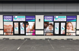 PM Pediatrics Coming Soon Sign